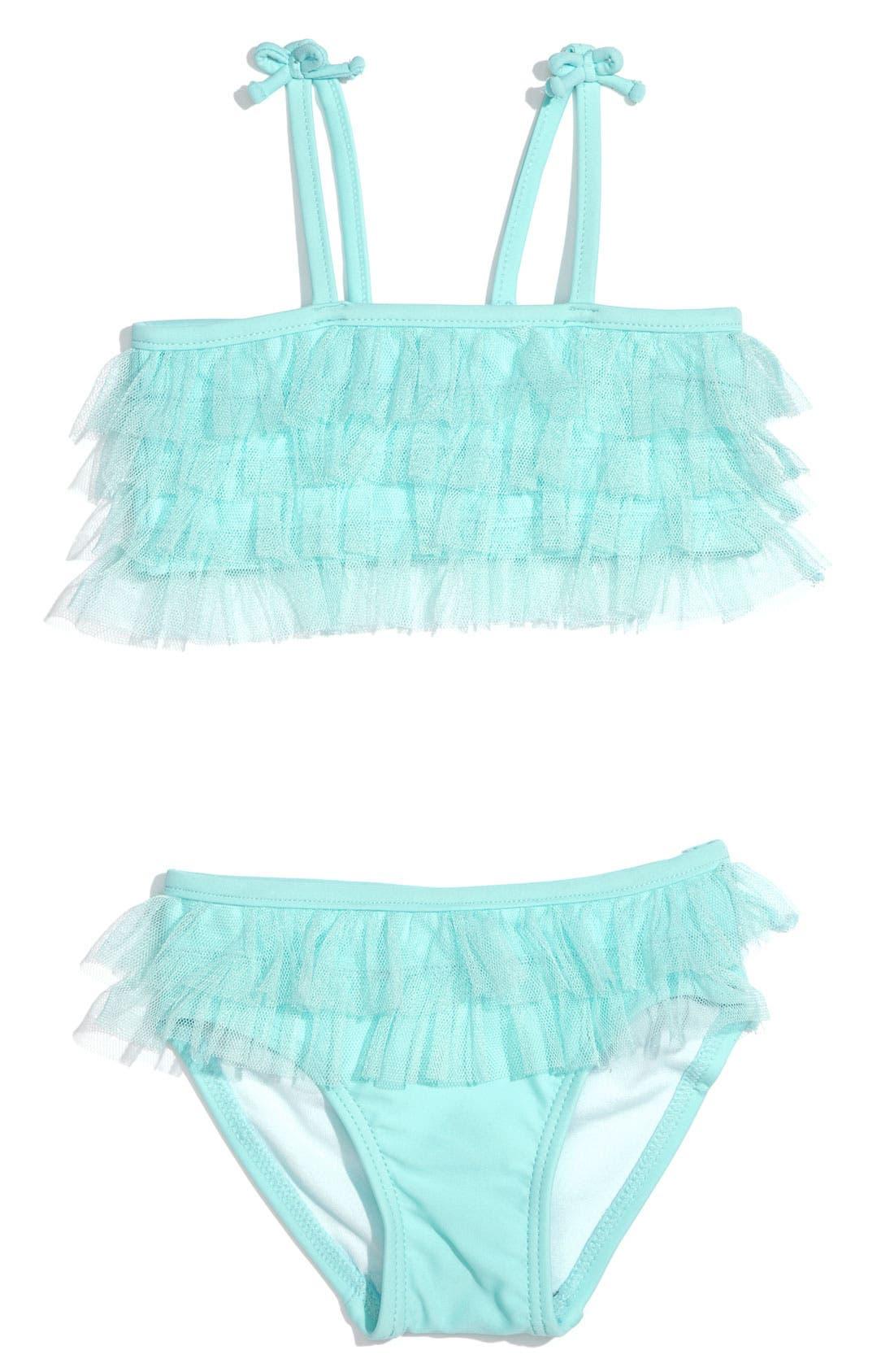 Main Image - Little Me Ruffle Swimsuit (Infant)