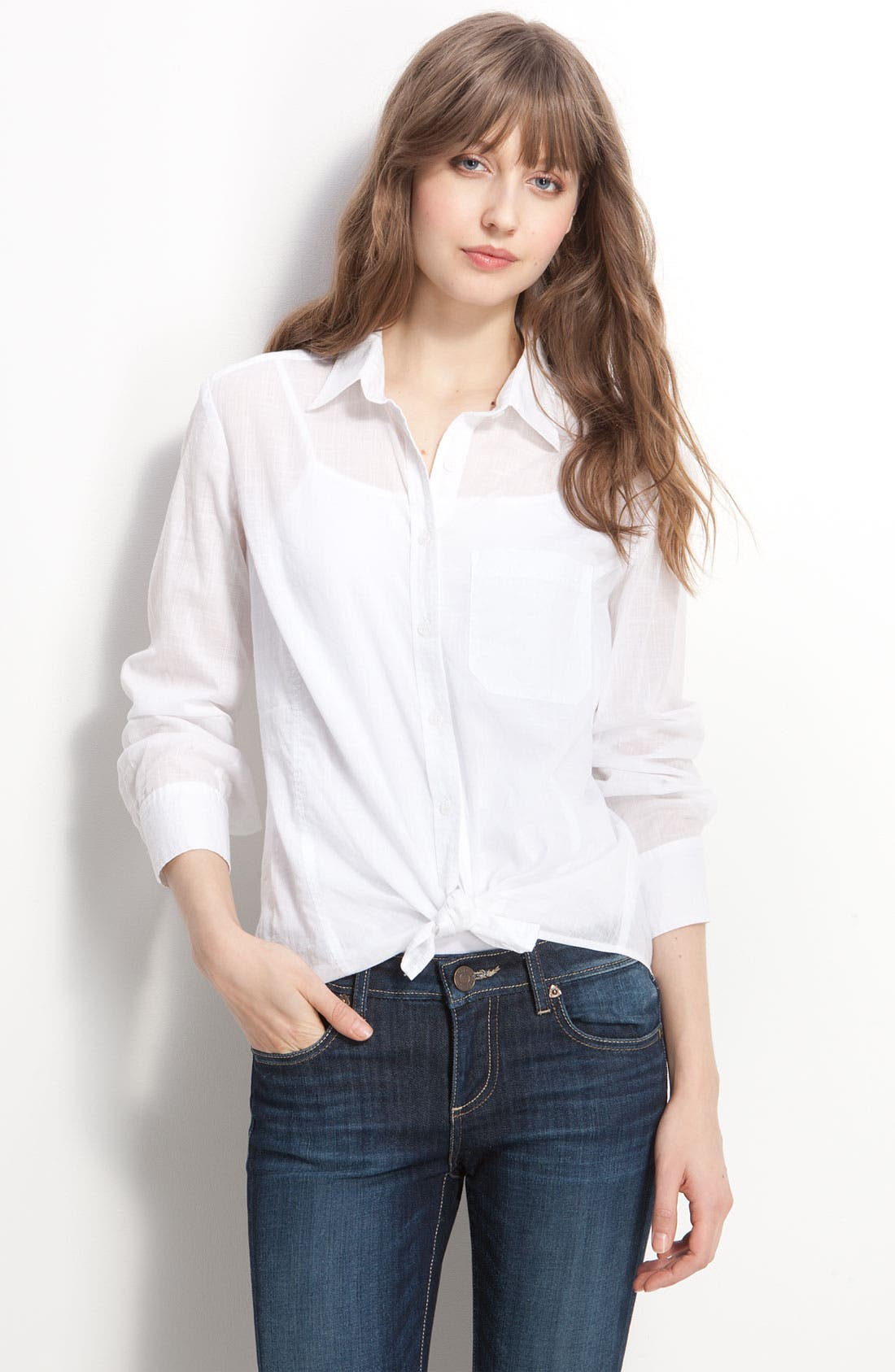 Main Image - Caslon® Boyfriend Shirt