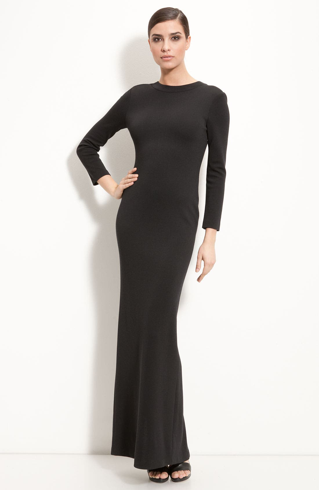 Main Image - St. John Collection Scoop Back Milano Knit Gown