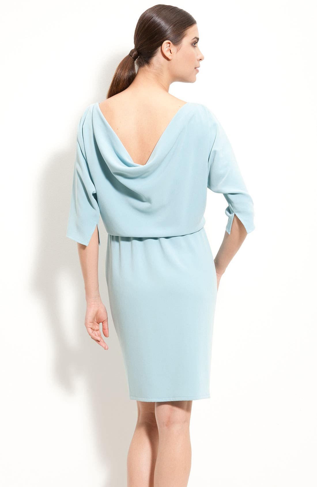 Alternate Image 2  - St. John Collection Batwing Sleeve Dress with Cowl Back
