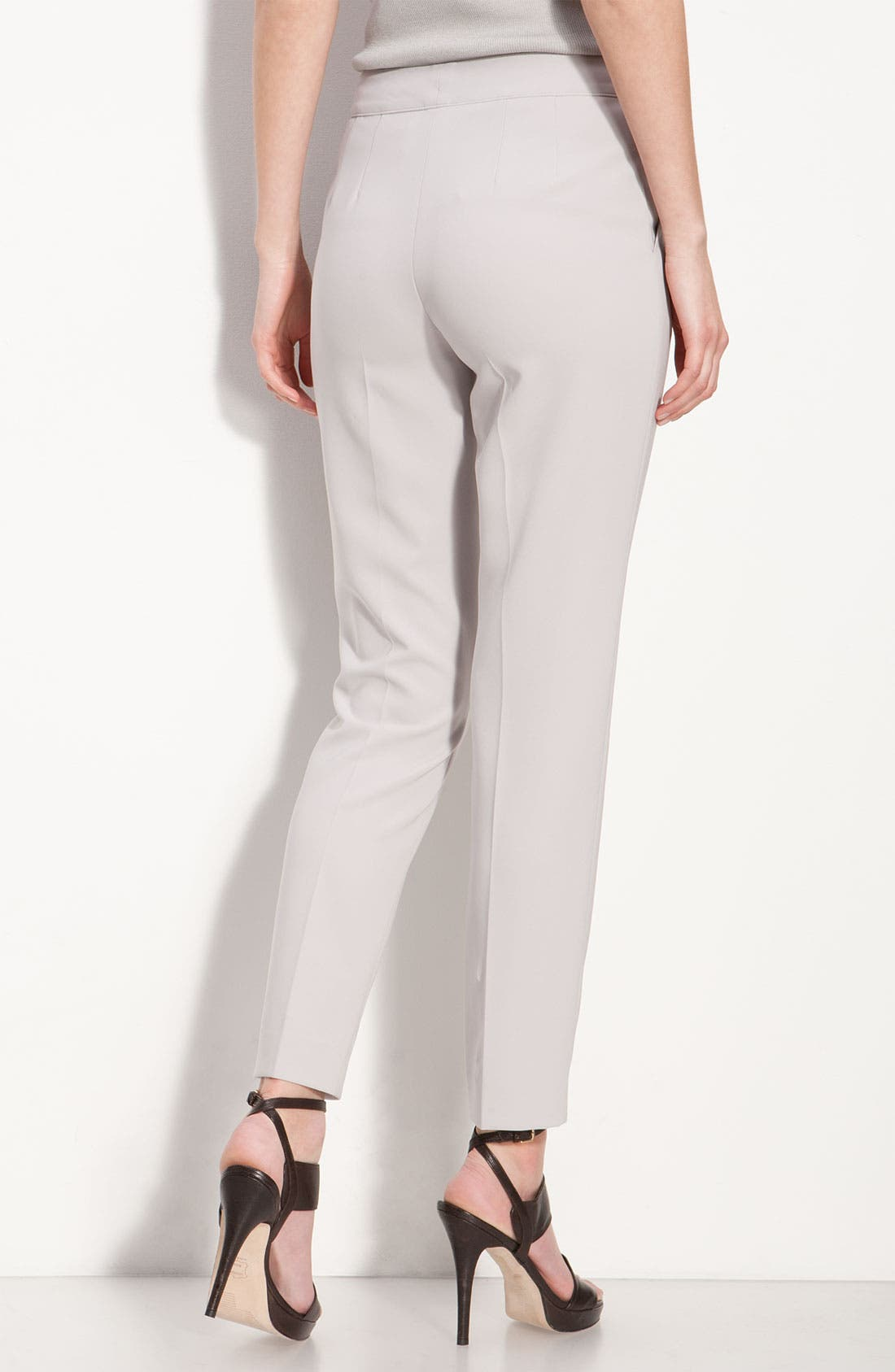 Alternate Image 2  - St. John Collection Crepe Marocain Crop Pants
