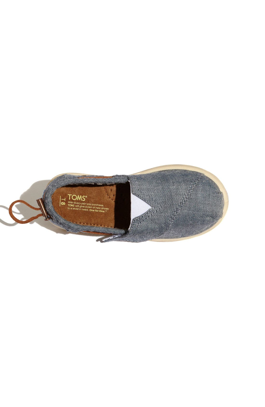 Alternate Image 3  - TOMS 'Classic Tiny - Bimini' Chambray Slip-On (Baby, Walker & Toddler)