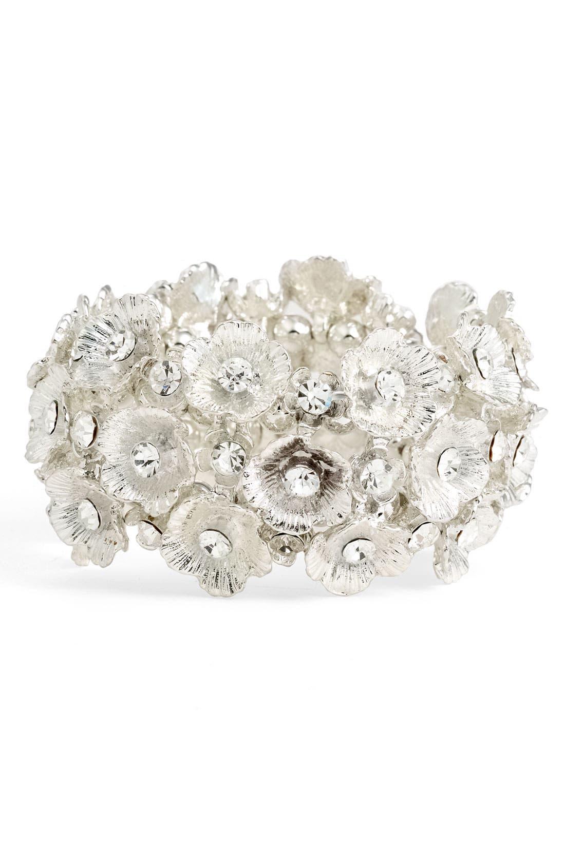 Alternate Image 1 Selected - Tasha Floral Cluster Stretch Bracelet