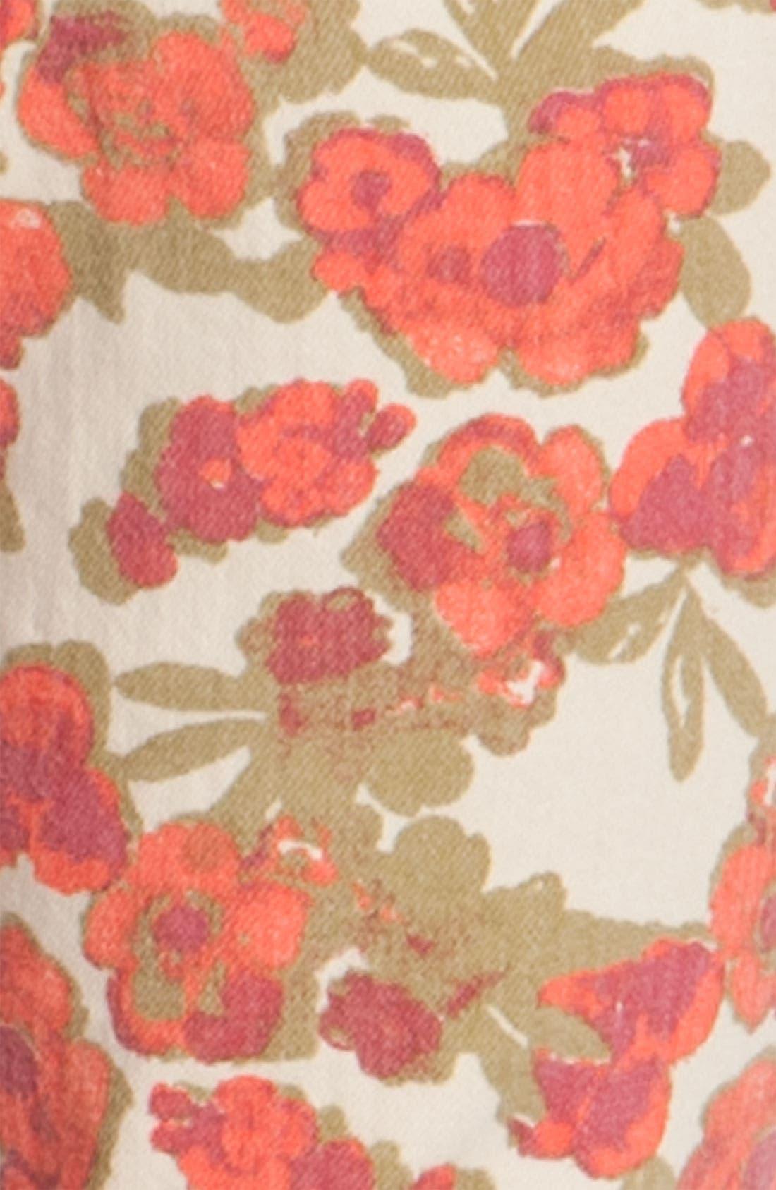 Alternate Image 2  - Paige Denim 'Skyline' Floral Skinny Ankle Jeans (Chello Ivory Print)