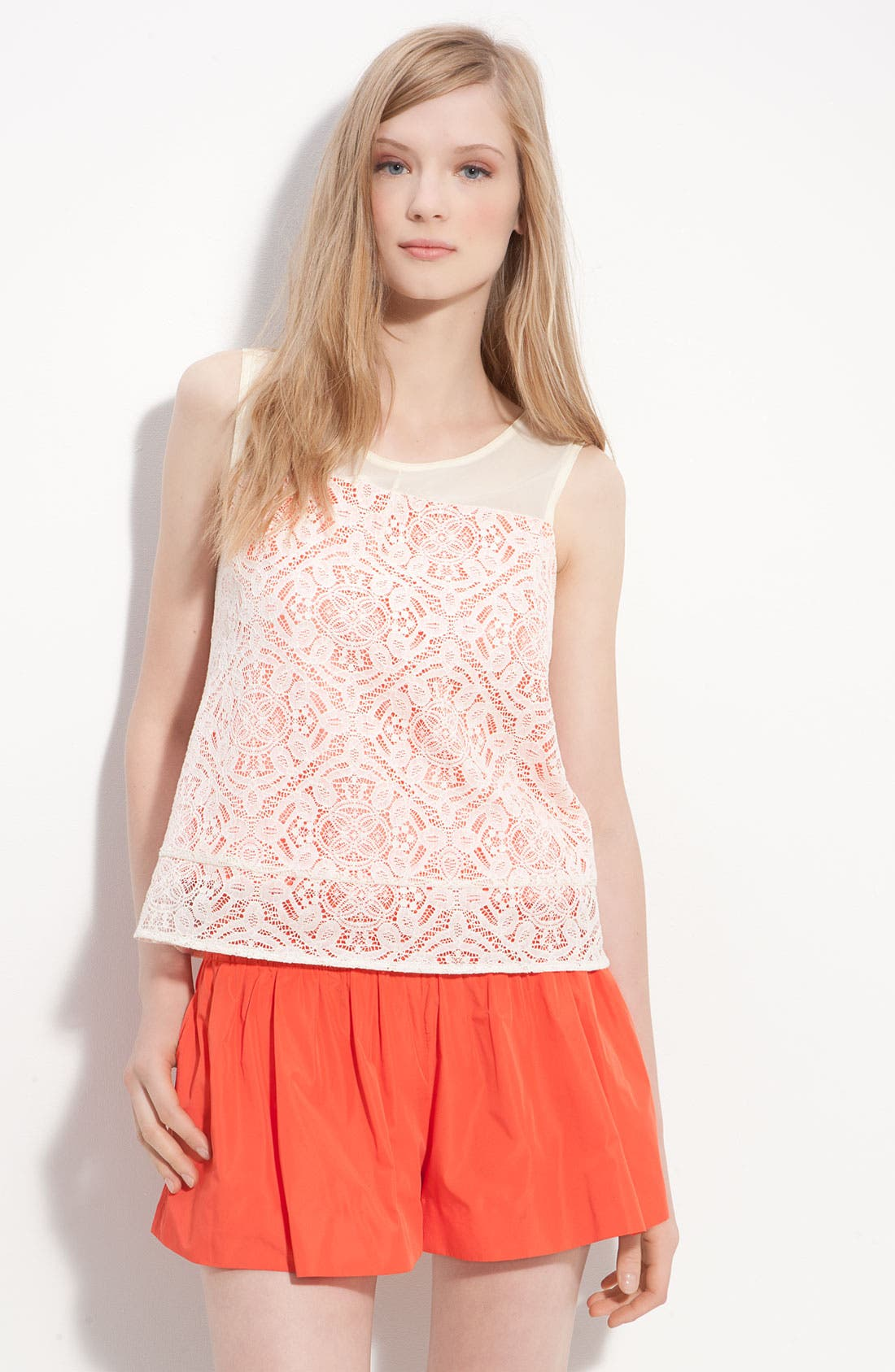 Alternate Image 1 Selected - MARC BY MARC JACOBS 'Muriel' Layered Lace Tank
