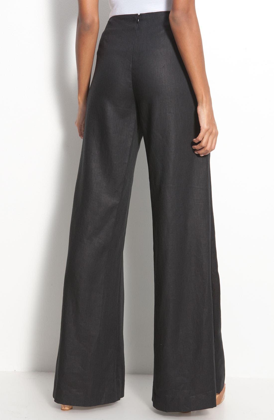 Alternate Image 2  - Lafayette 148 New York 'Lavish Linen' Sailor Pants