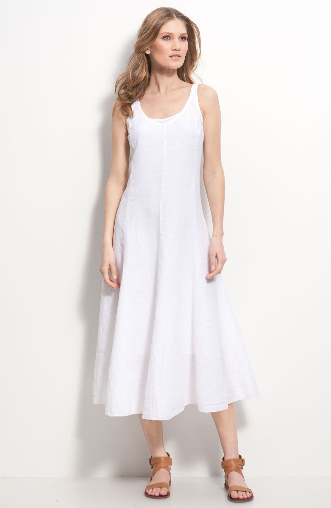 Main Image - Eileen Fisher Cotton Dress with Convertible Hem