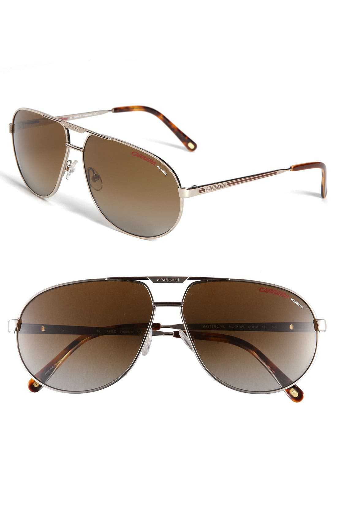 Alternate Image 1 Selected - Carrera Eyewear 'Master 2' 61mm Polarized Aviator Sunglasses