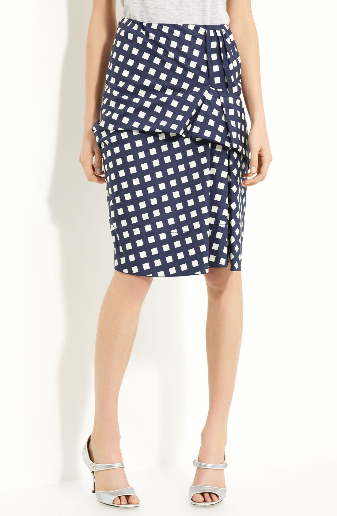 Alternate Image 1 Selected - MARC JACOBS Gingham Drape Front Skirt