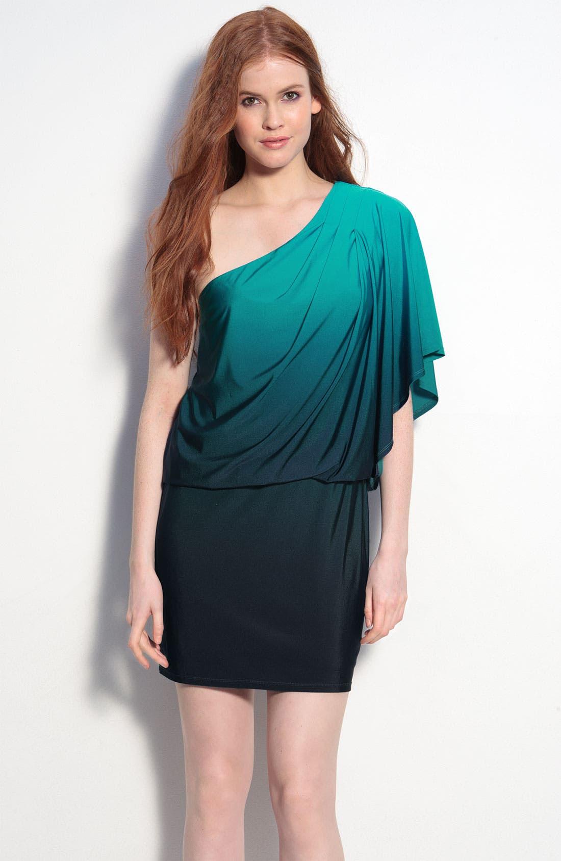 Main Image - JS Boutique Ombré One Shoulder Jersey Dress