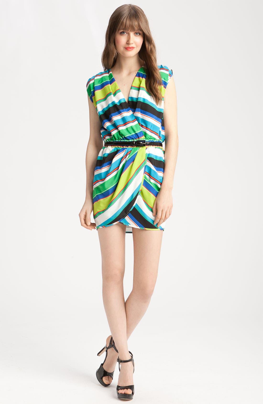 Alternate Image 4  - Vince Camuto Tribal Stripe Faux Wrap Dress