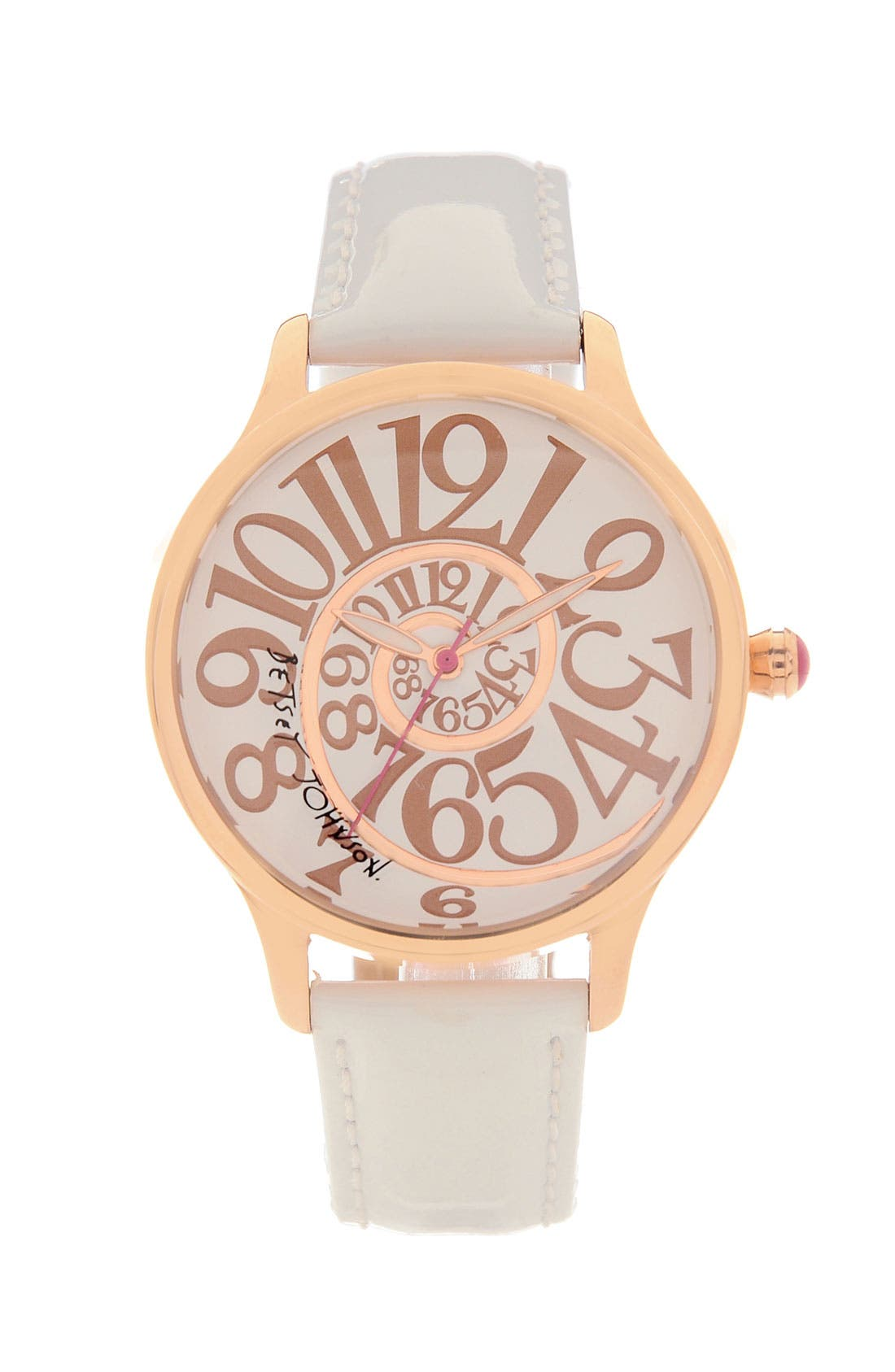 Main Image - Betsey Johnson 'Lots 'n' Lots of Time' Swirl Dial Watch
