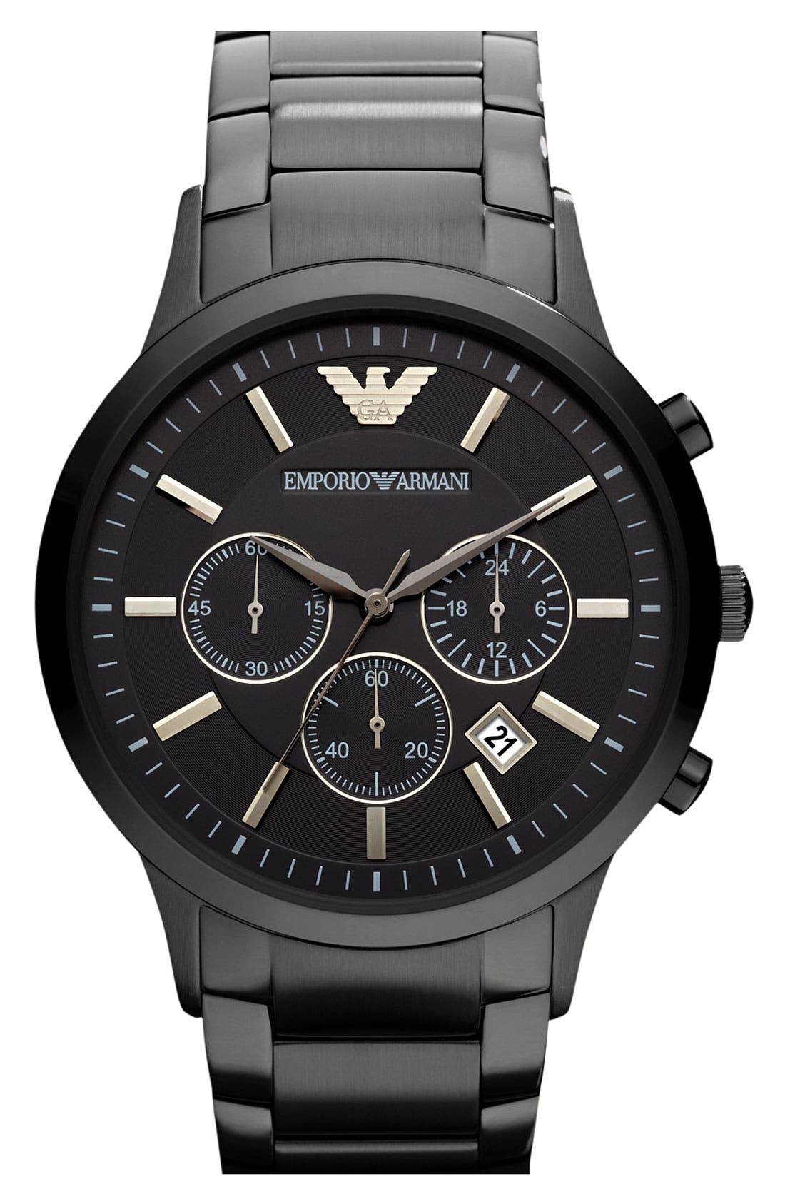 Main Image - Emporio Armani Stainless Steel Bracelet Watch, 43mm