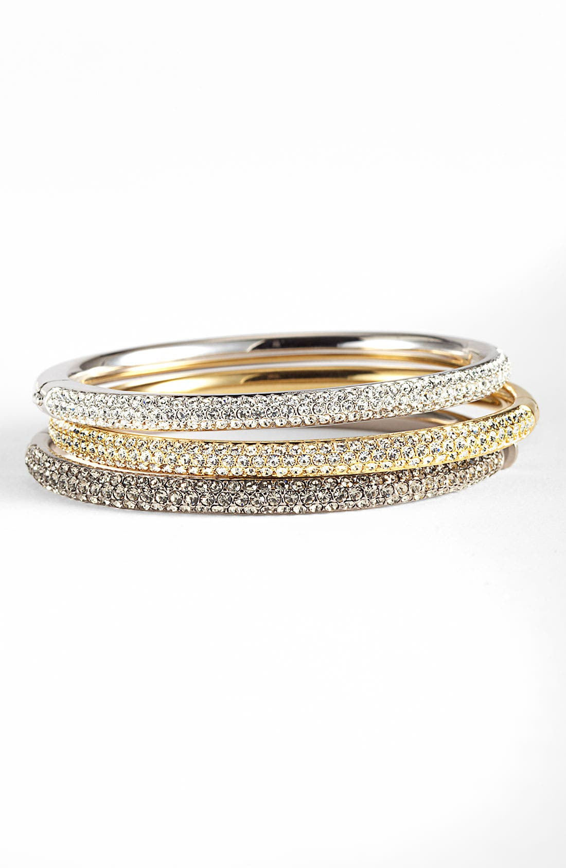 Alternate Image 1  - Nadri 'Pavé Bombe' Hinged Bangle
