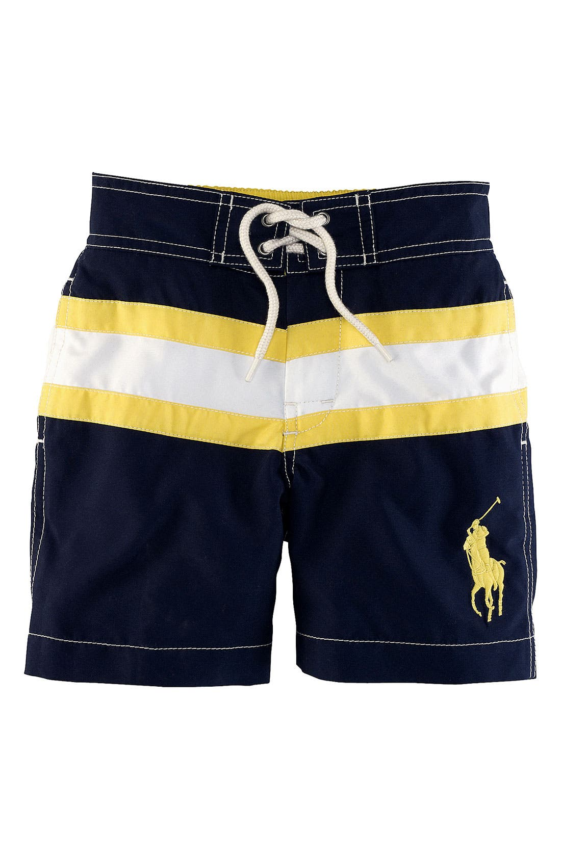 Main Image - Ralph Lauren Swim Trunks (Toddler)