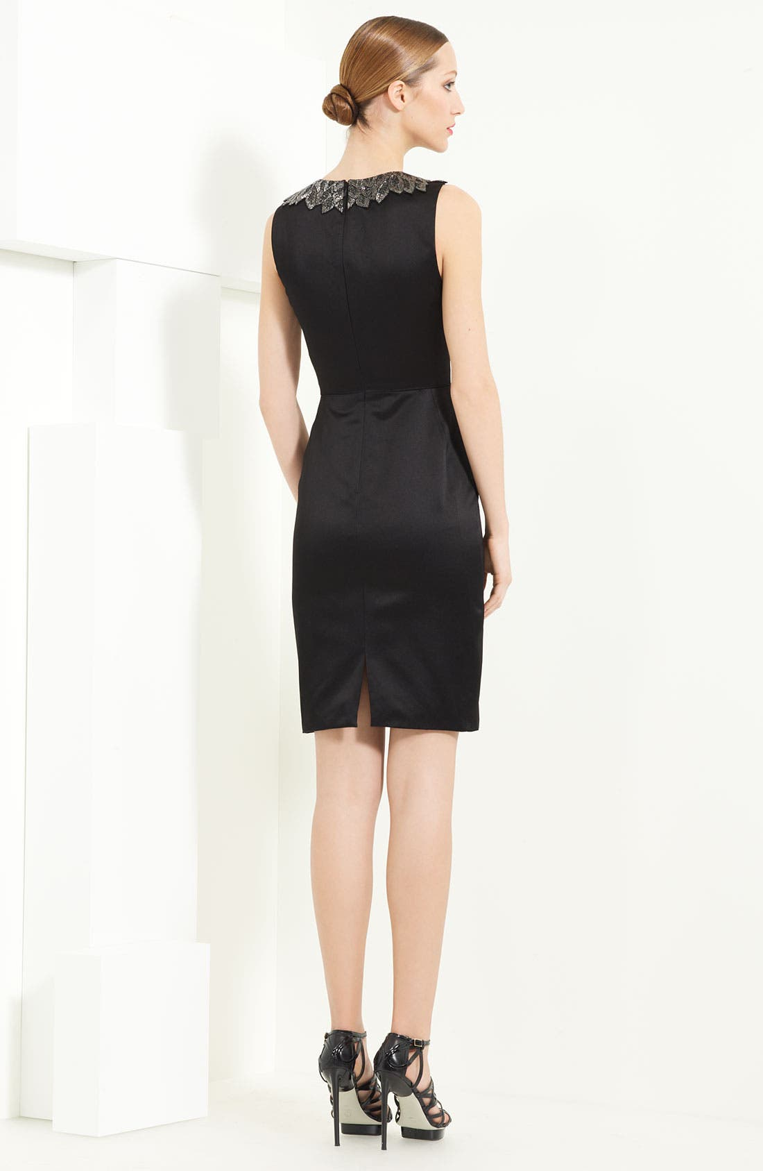 Alternate Image 2  - Jason Wu Duchesse Satin Dress with Embroidered Collar