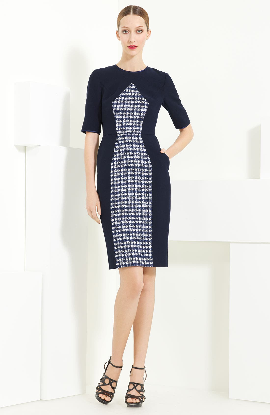 Alternate Image 1 Selected - Jason Wu Tweed & Twill Dress