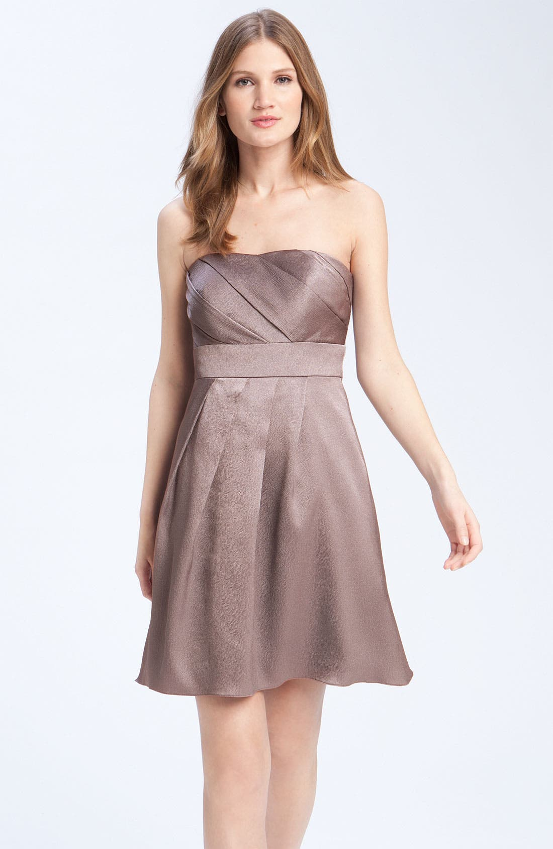 Alternate Image 1 Selected - Jenny Yoo Hammered Satin Strapless Dress