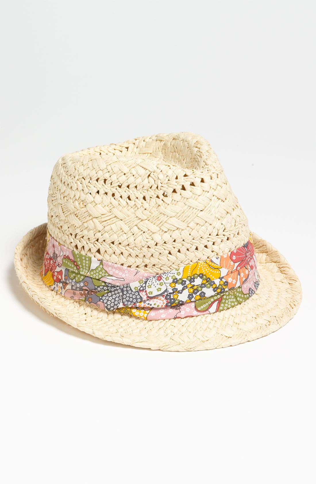 Main Image - David & Young Pleated Band Woven Fedora