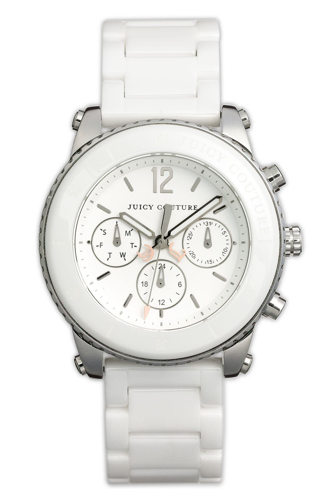 Main Image - Juicy Couture 'Pedigree' Ceramic Bracelet Watch, 38mm