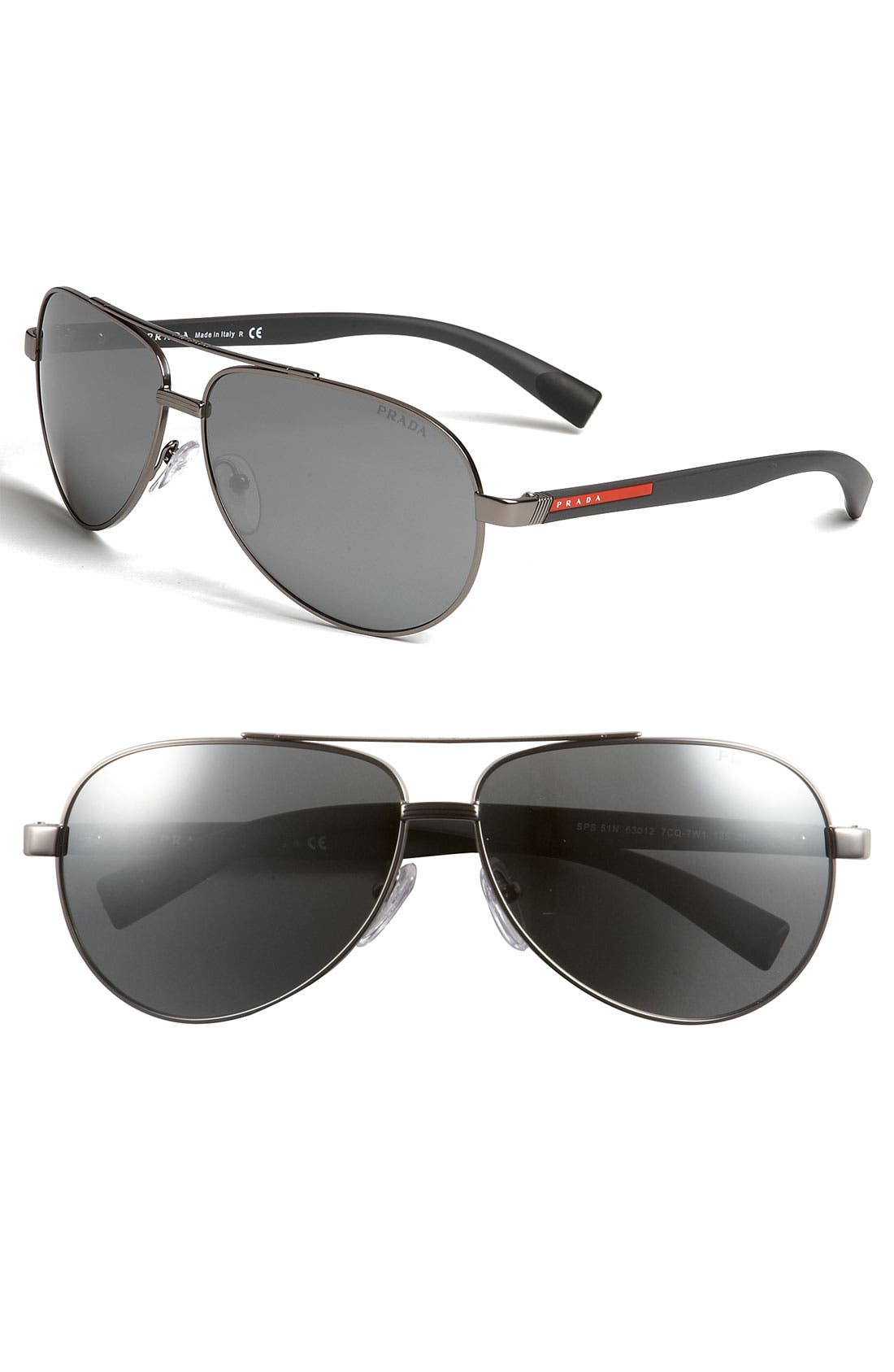 Main Image - Prada 63mm Aviator Sunglasses