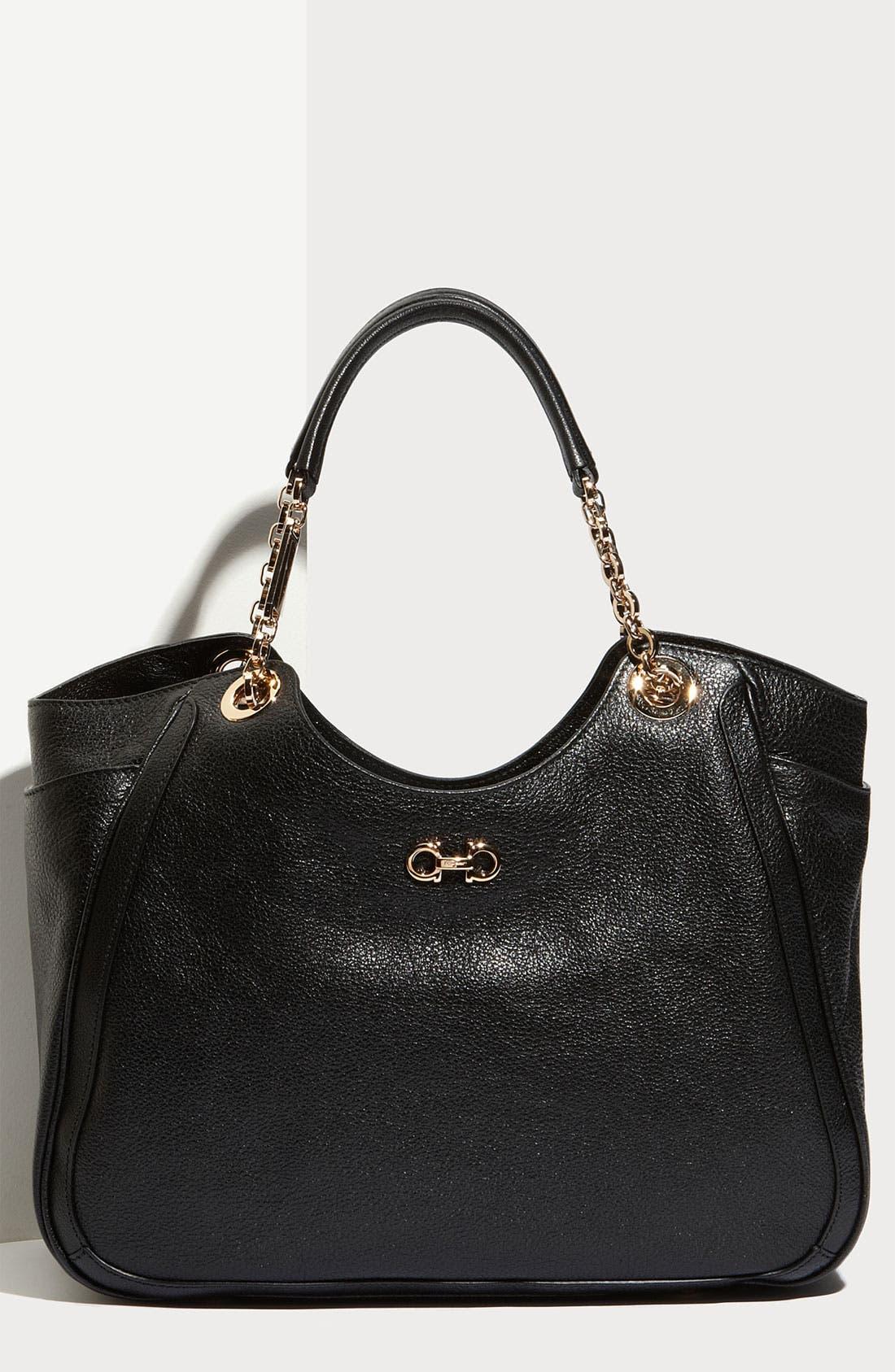 Alternate Image 1 Selected - Salvatore Ferragamo 'Betulla Chain' Leather Shopper
