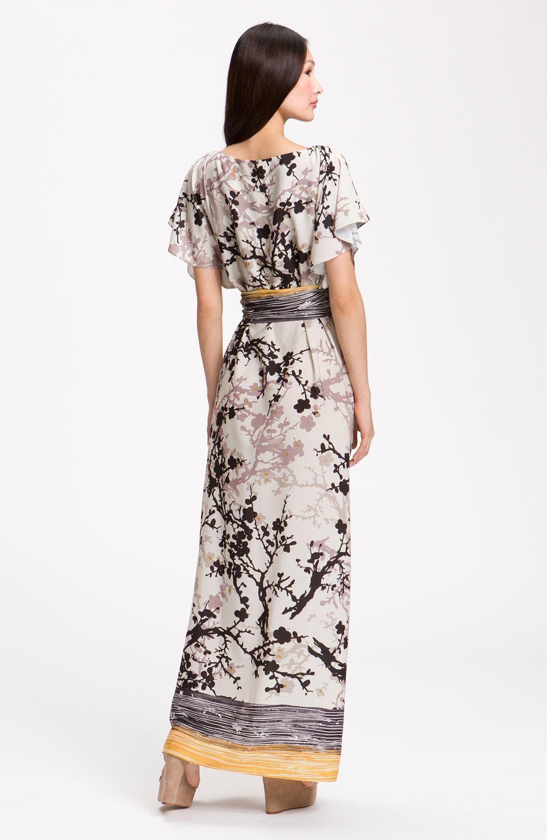 Alternate Image 2  - Suzi Chin for Maggy Boutique Crêpe de Chine Maxi Dress