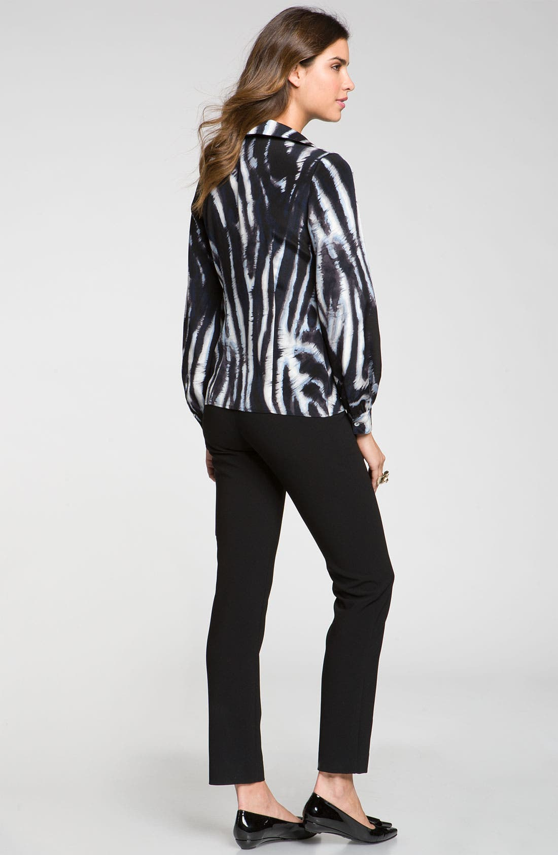Alternate Image 5  - St. John Collection Easy Fit Zebra Print Blouse