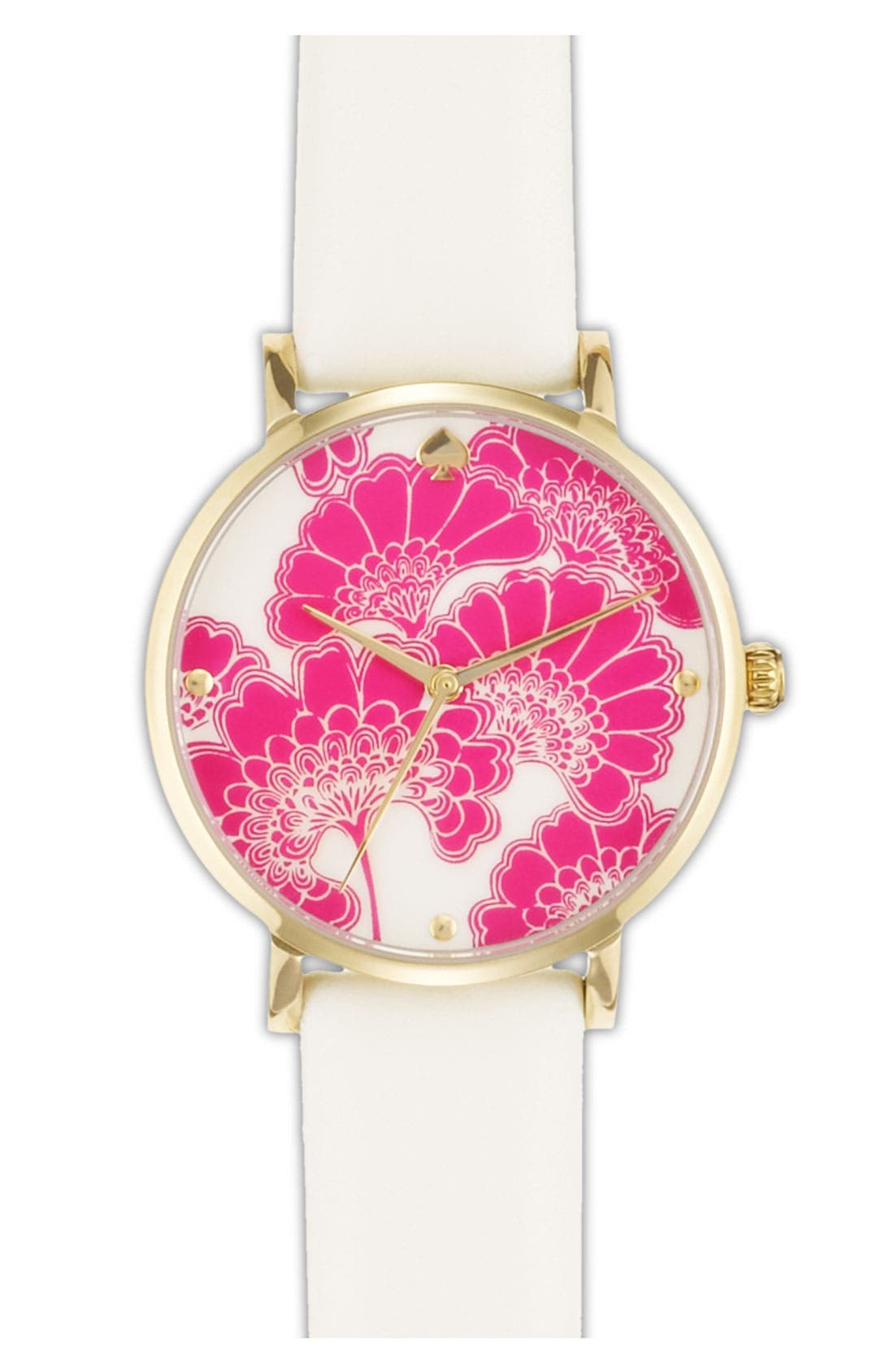 Main Image - kate spade new york 'metro' patterned dial watch, 34mm