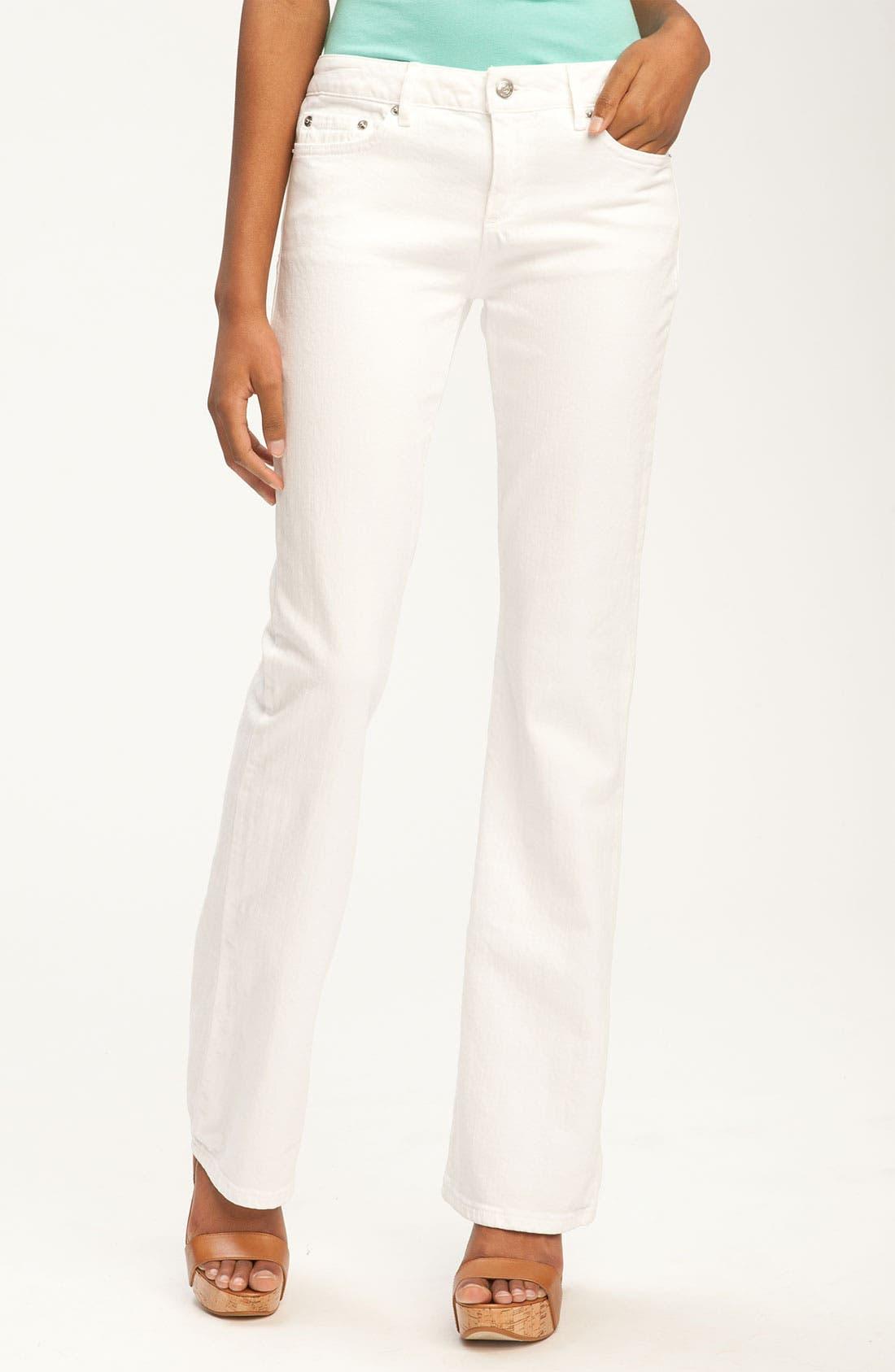 Alternate Image 1 Selected - MICHAEL Michael Kors Bootcut Jeans (Petite)