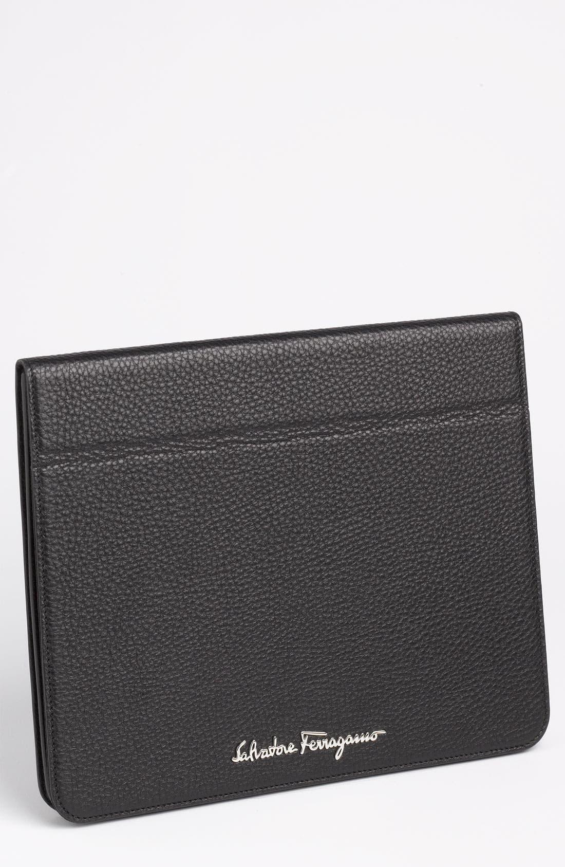 Main Image - Salvatore Ferragamo 'Vitello Safari' iPad Case