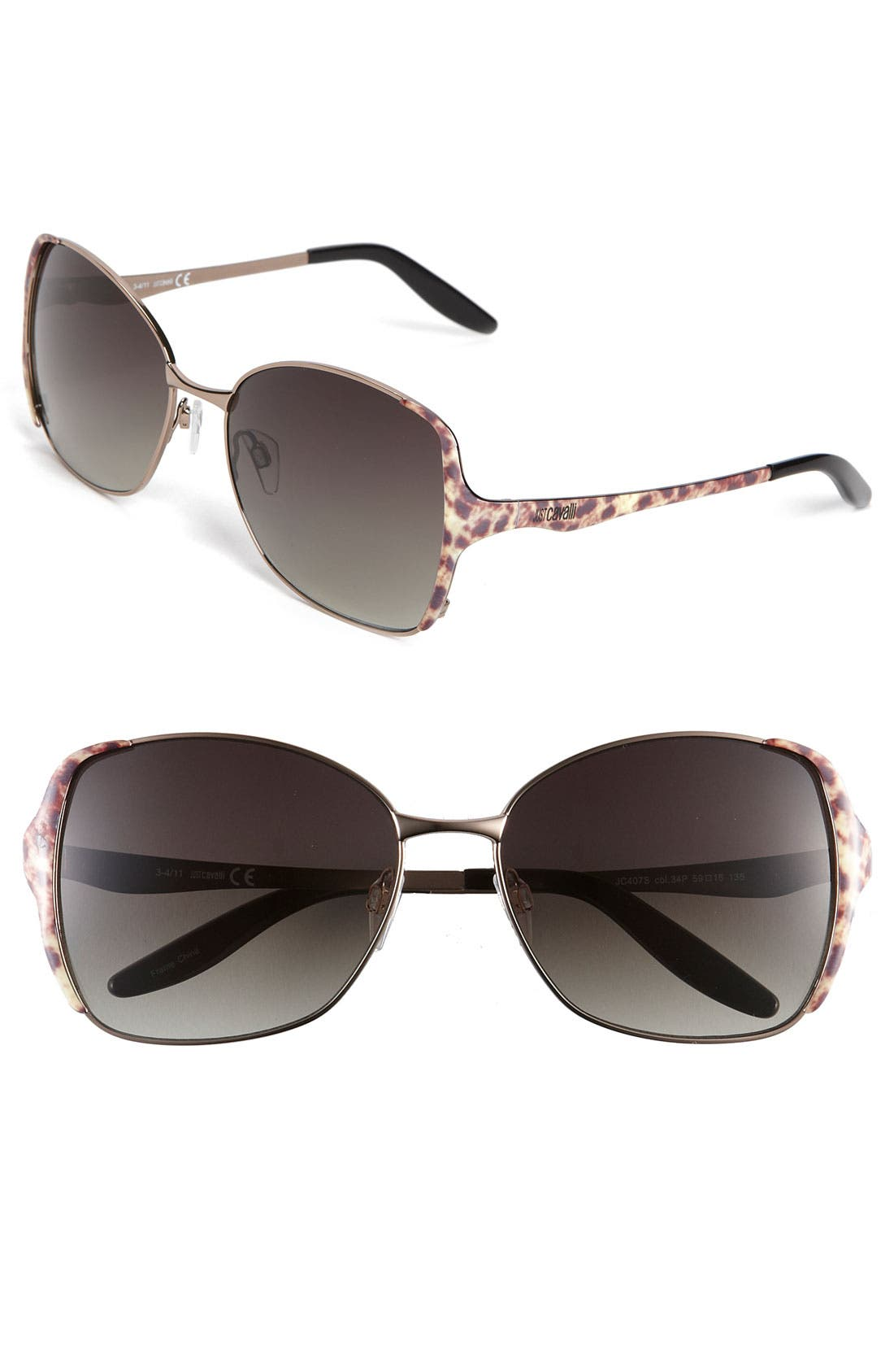 Main Image - Just Cavalli Oversized Sunglasses (Special Purchase)