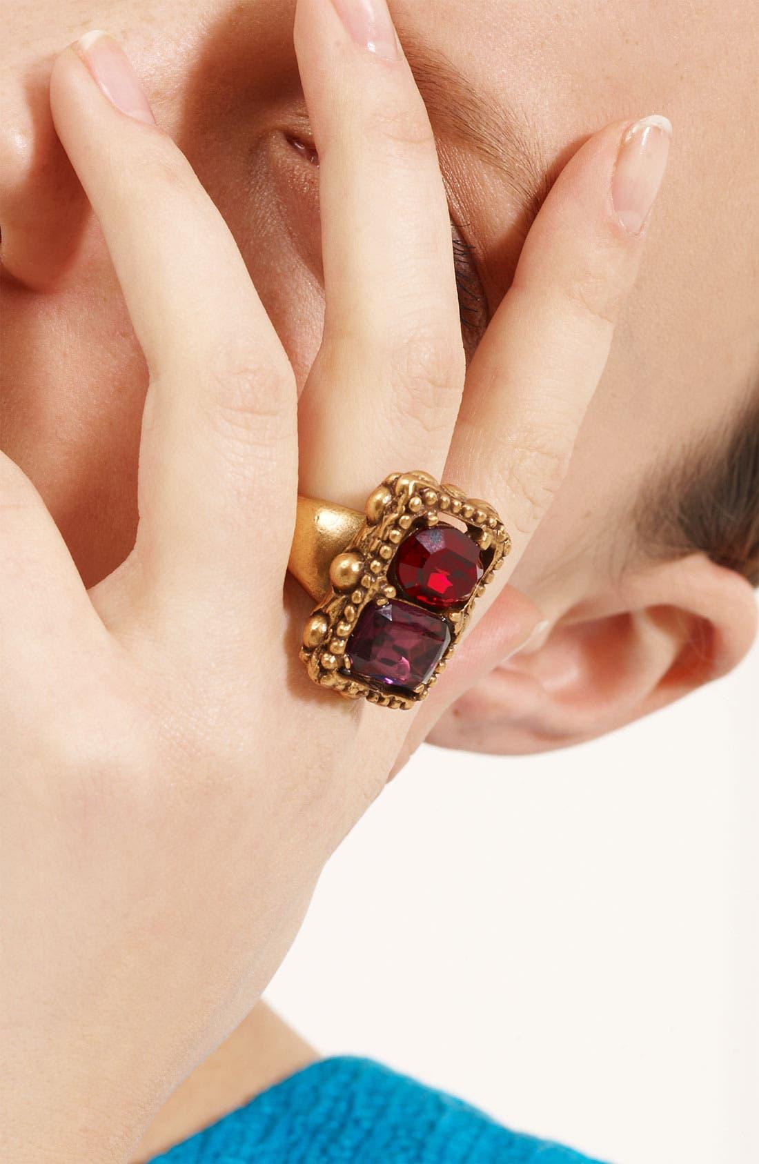 Alternate Image 2  - Oscar de la Renta Faceted Stone Ring