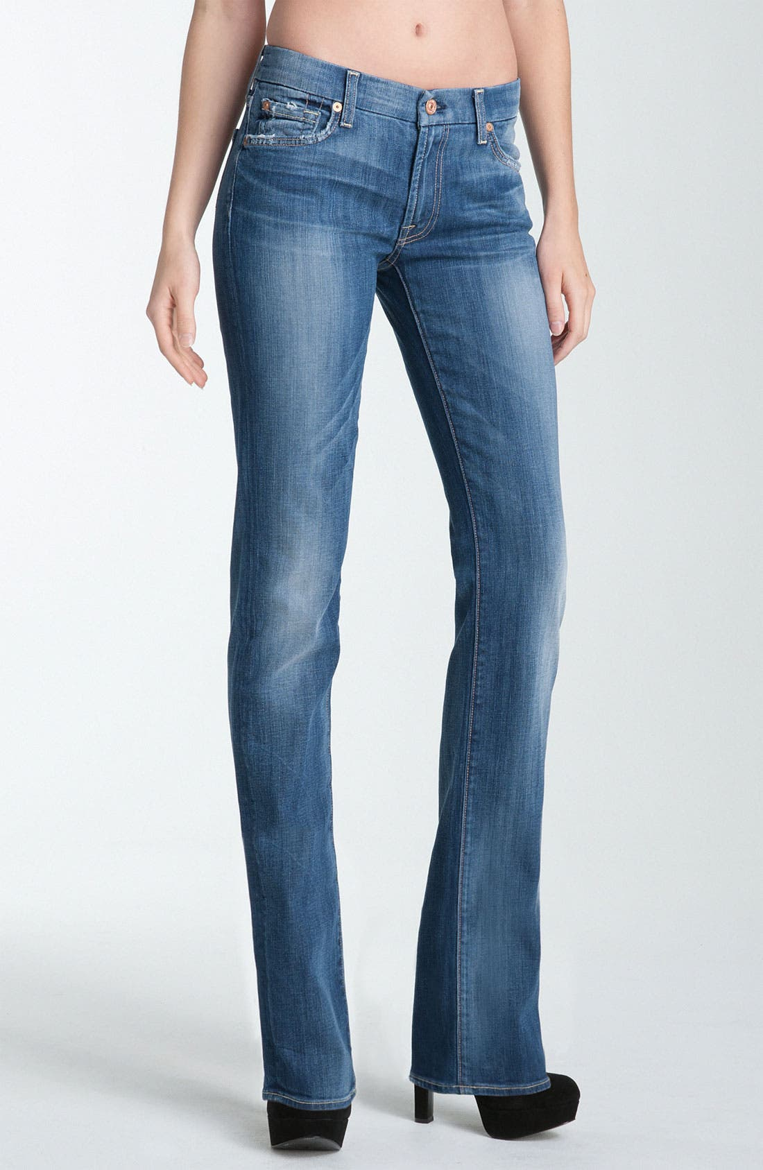 Alternate Image 1 Selected - 7 For All Mankind® 'Kimmie' Straight Leg Jeans (Medium Worn)