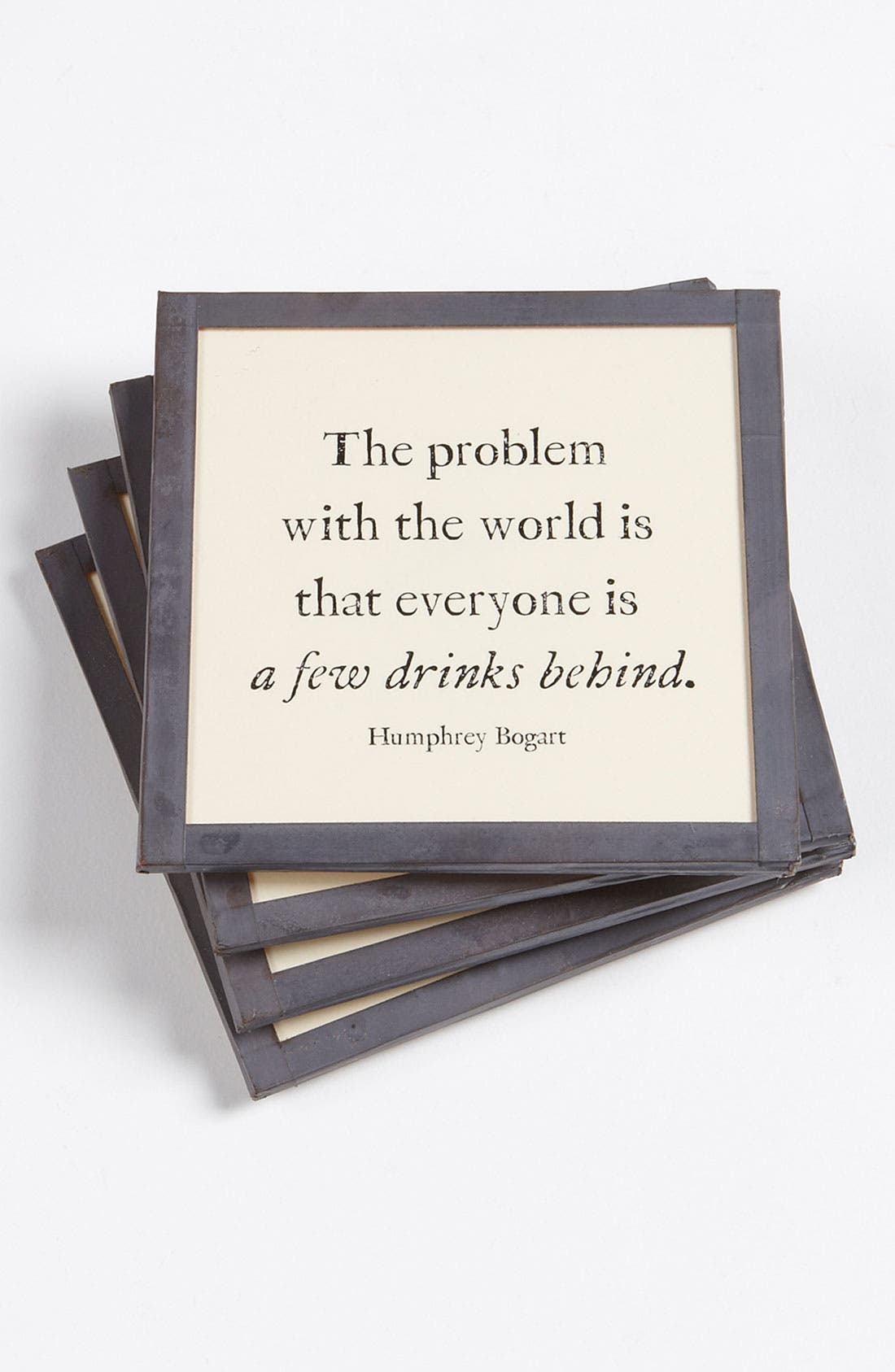 Alternate Image 1 Selected - Ben's Garden 'The Problem with the World' Coaster Set
