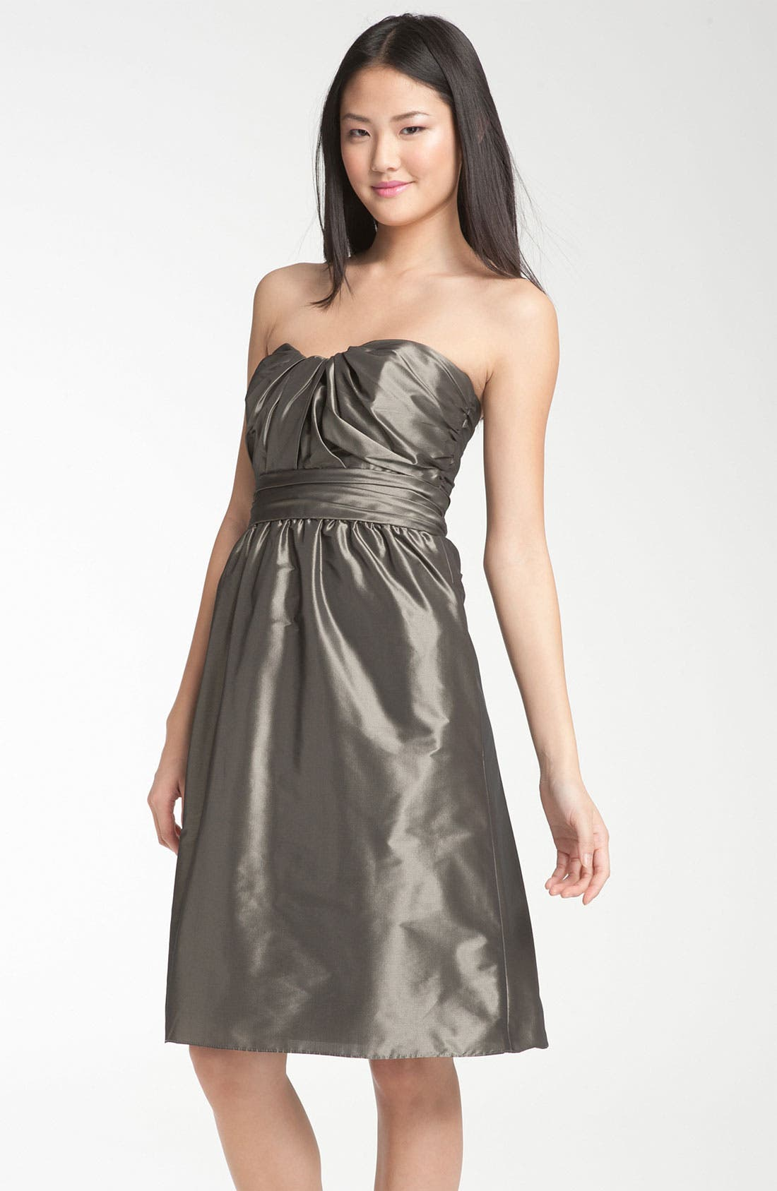 Main Image - Amsale Strapless Taffeta Dress