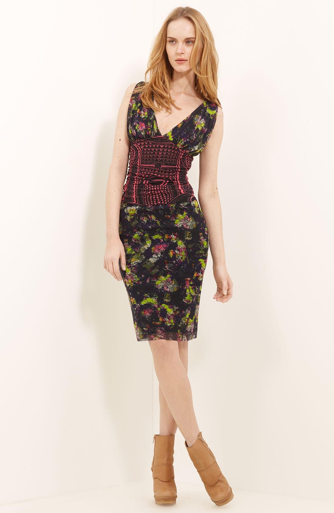 Alternate Image 1 Selected - Jean Paul Gaultier Fuzzi Mixed Print Tulle Dress