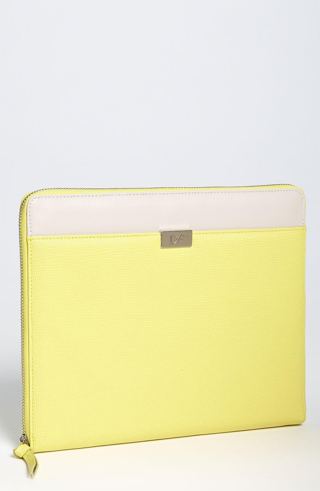 Alternate Image 1 Selected - Diane von Furstenberg Embossed iPad Case
