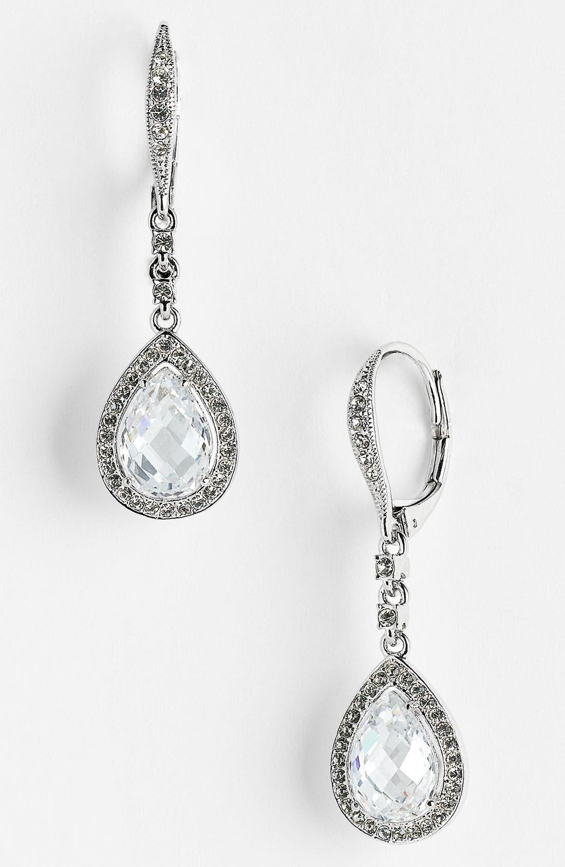 Alternate Image 1 Selected - Nadri Cubic Zirconia Pear Drop Earrings (Nordstrom Exclusive)