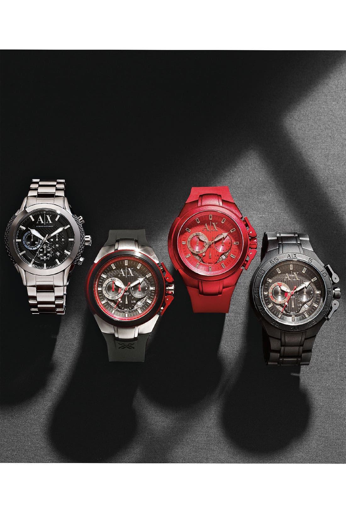 Alternate Image 2  - AX Armani Exchange Silicone Accent Bracelet Watch