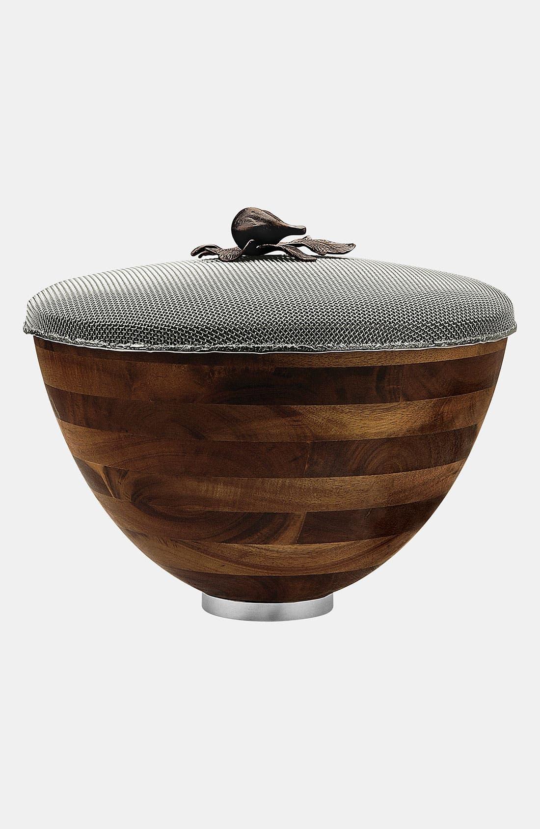 Alternate Image 2  - Michael Aram 'Fig Leaf' Mesh Lid Serving Bowl