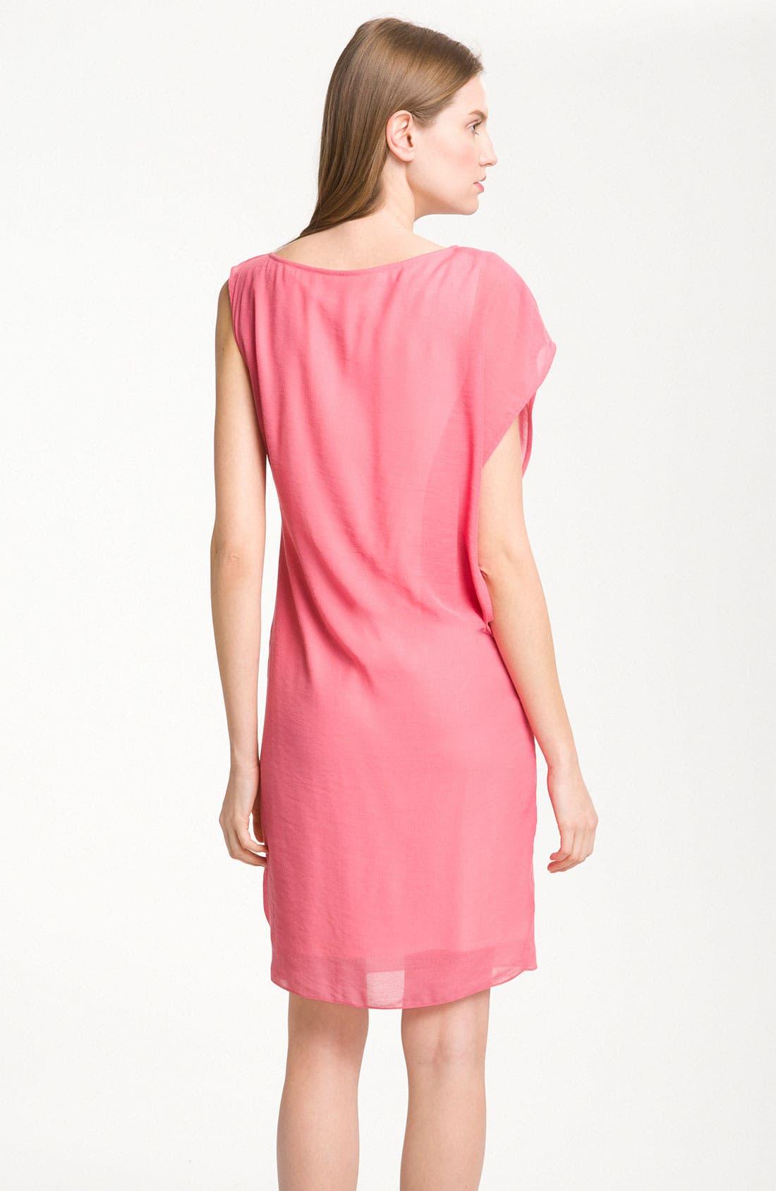 Alternate Image 2  - Maggy London One Shoulder Gauze Shift Dress