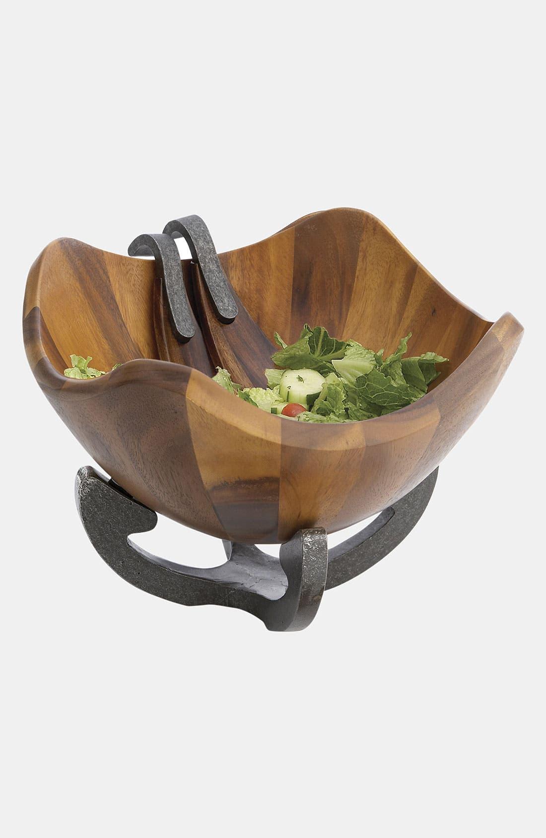 Alternate Image 2  - Nambé Anvil Scroll Wood Salad Bowl & Servers