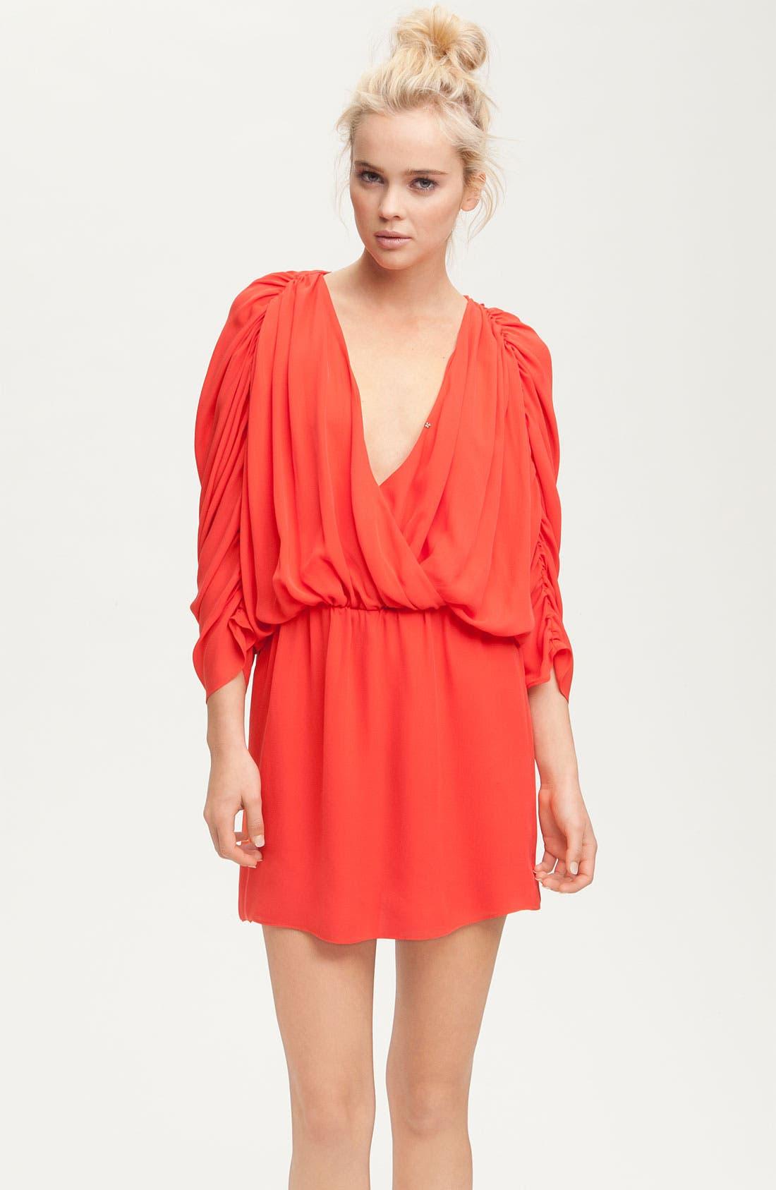 Alternate Image 1 Selected - Parker Gathered Silk Dress