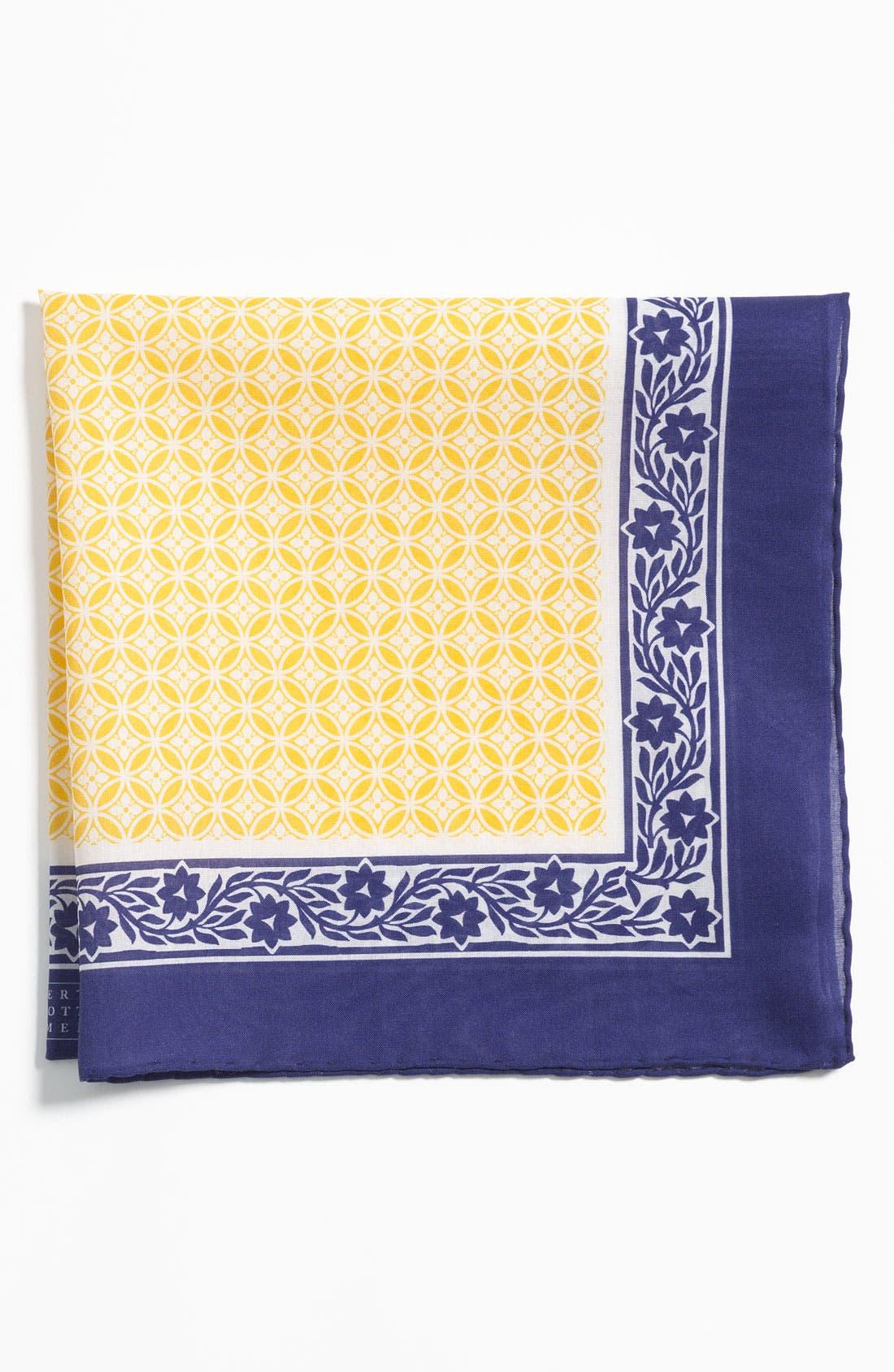 Alternate Image 1 Selected - Robert Talbott Cotton Pocket Square