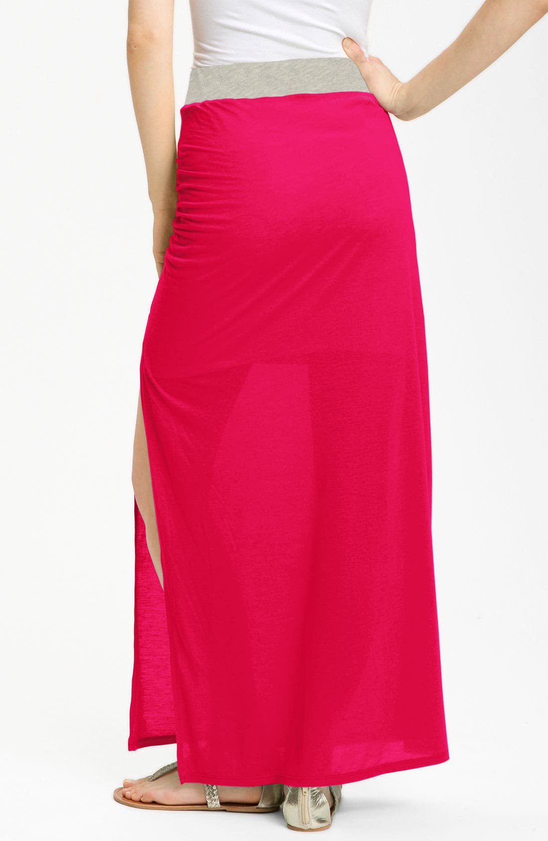 Alternate Image 2  - Stem Ruched Maxi Skirt