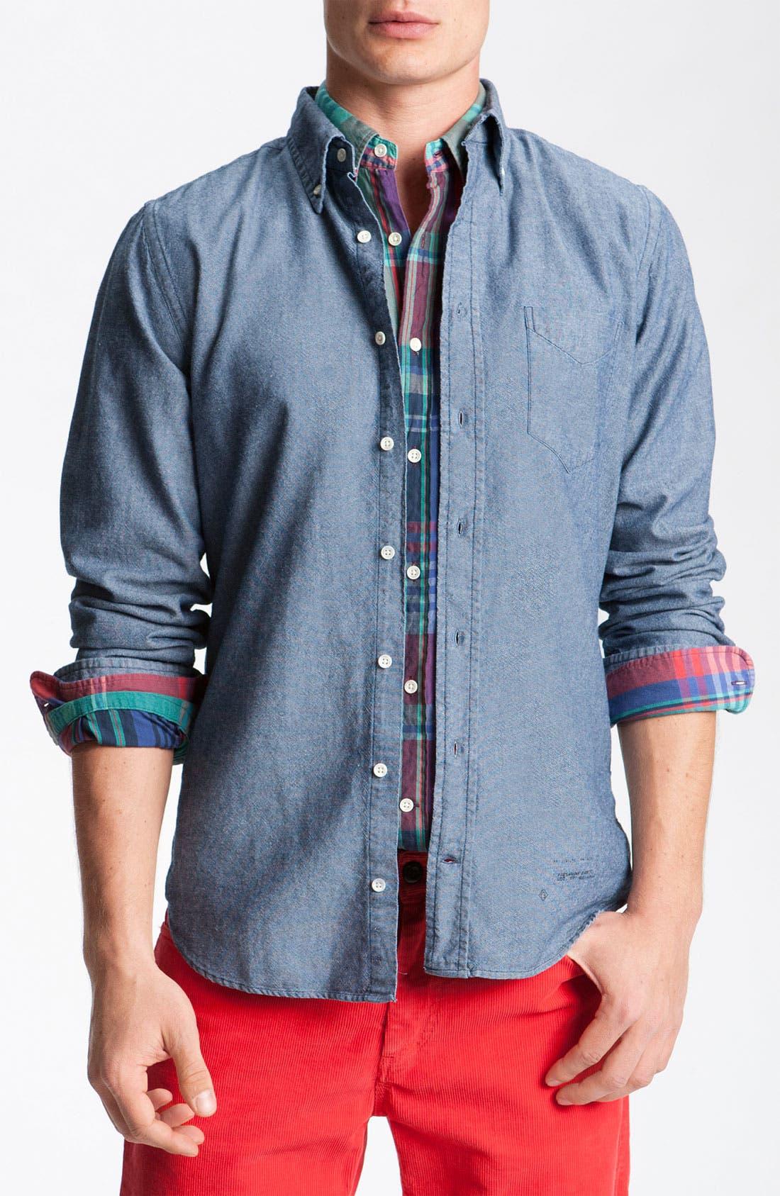 Alternate Image 1 Selected - Gant Rugger Woven Oxford Shirt