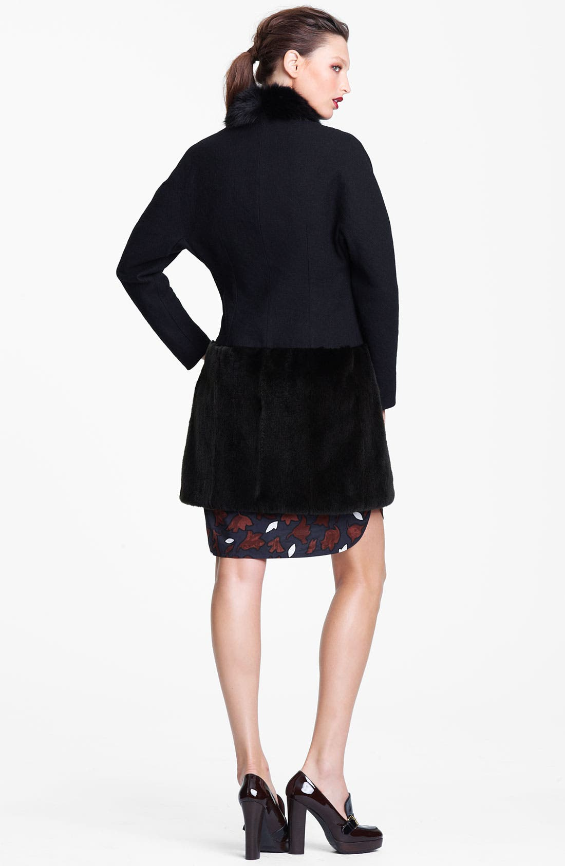 Alternate Image 4  - Marni Edition Fox Collar & Ferret Hem Coat