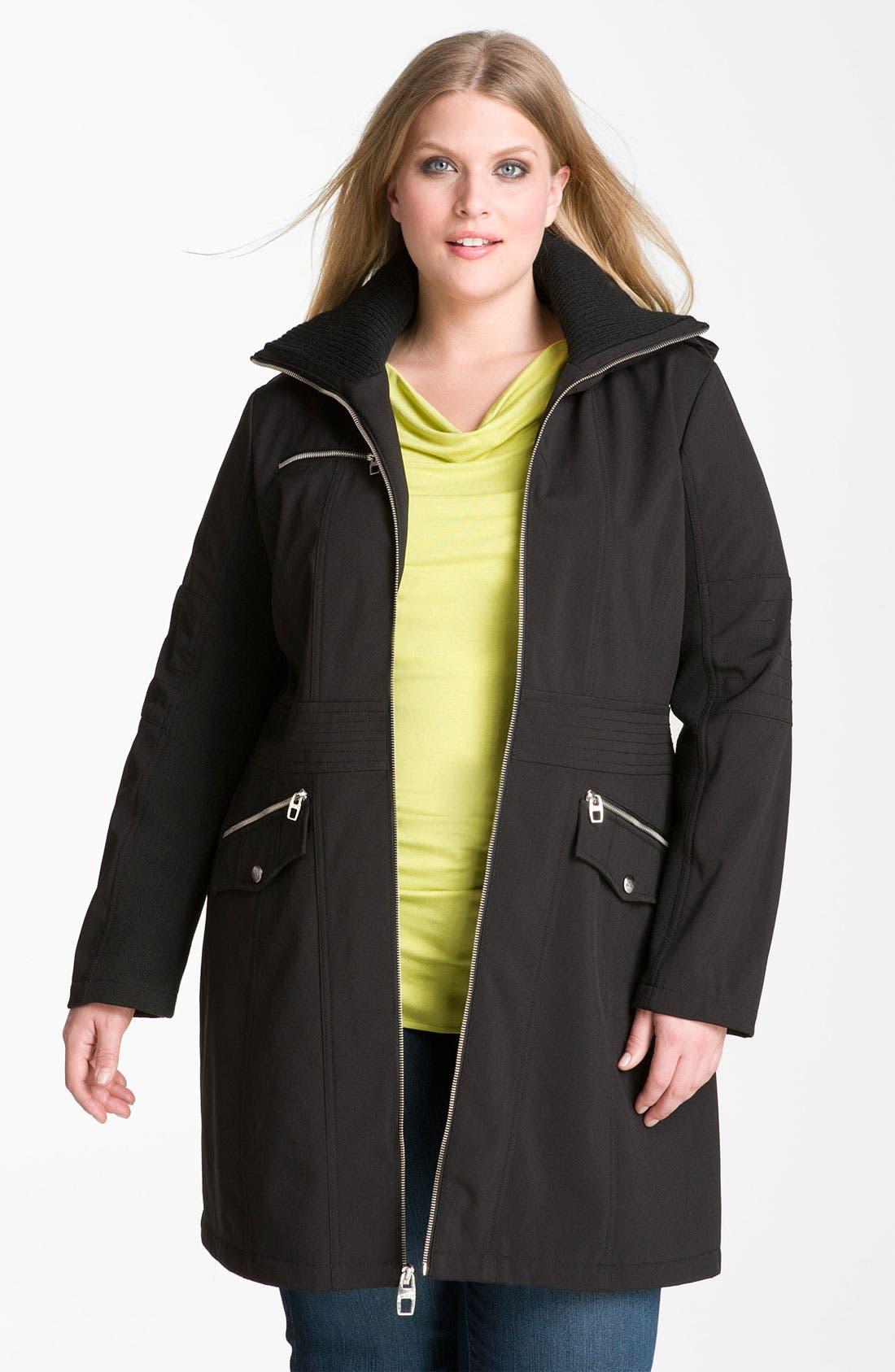 Alternate Image 1 Selected - Miss Sixty Hooded Zip Coat (Plus)
