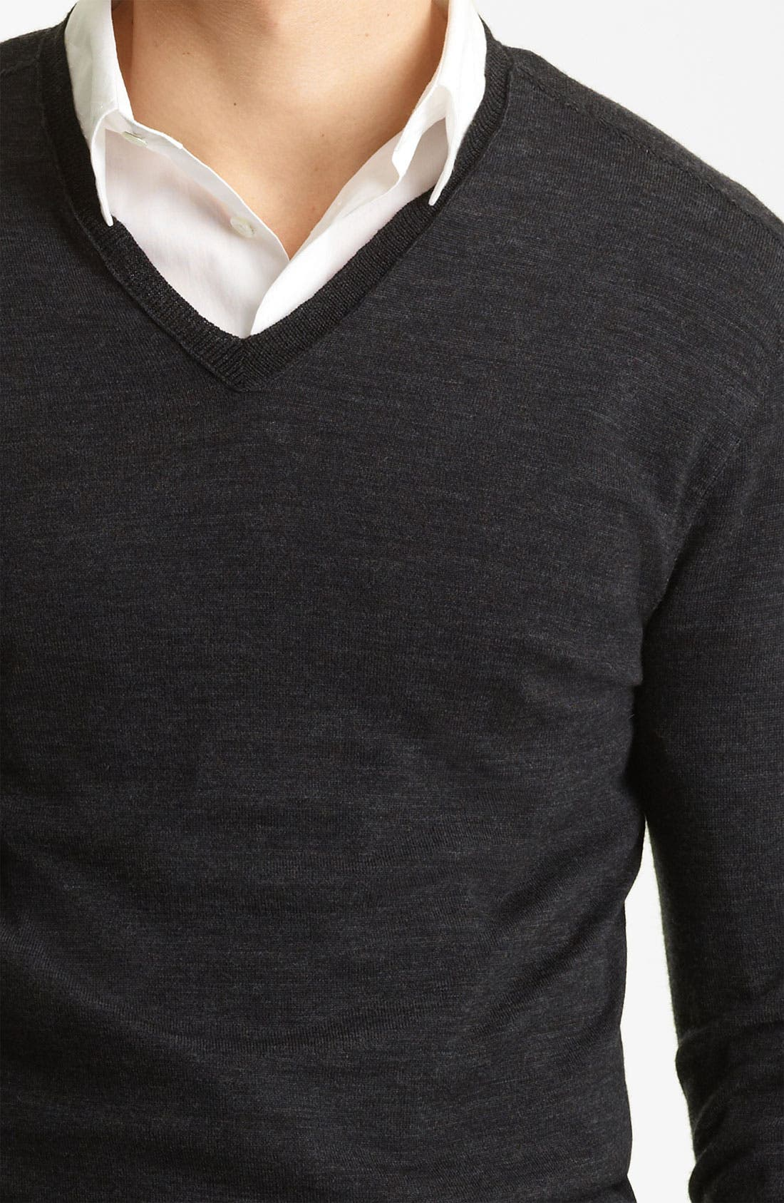 Alternate Image 3  - John Varvatos Collection V-Neck Wool Knit Sweater
